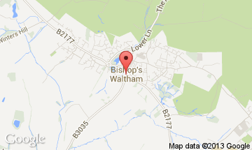 bishops waltham map