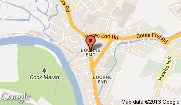 bourne end map
