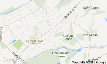 burghfield common map