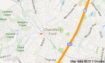 chandlers ford map