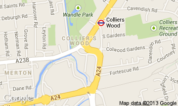 colliers wood map