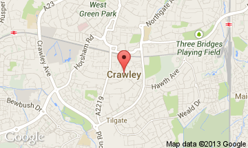 crawley map