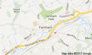 farnham map