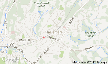 haslemere map