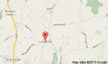 lingfield map
