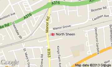 north sheen map