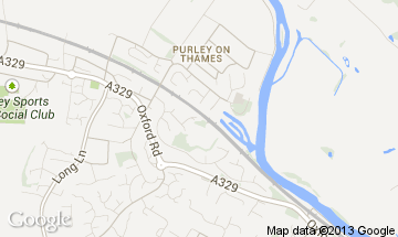 purley on thames map