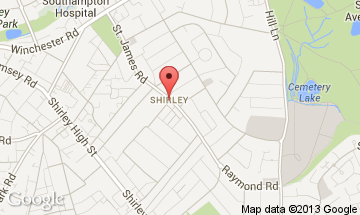 shirley-southampton map