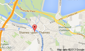 staines upon thames map
