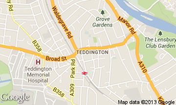 teddington map