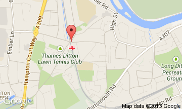 thames ditton map