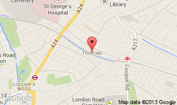 tooting map