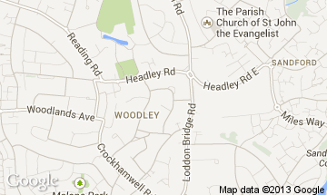 woodley map