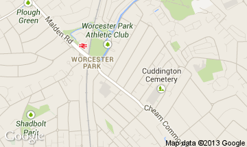 worcester park map